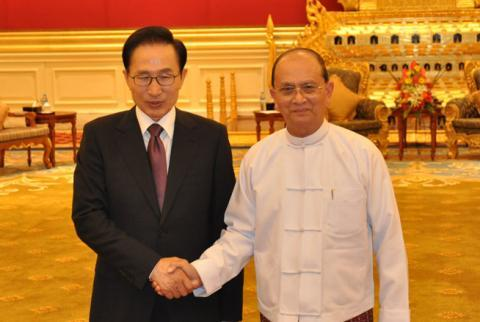 Thein_sein_and_lee_myung_bak